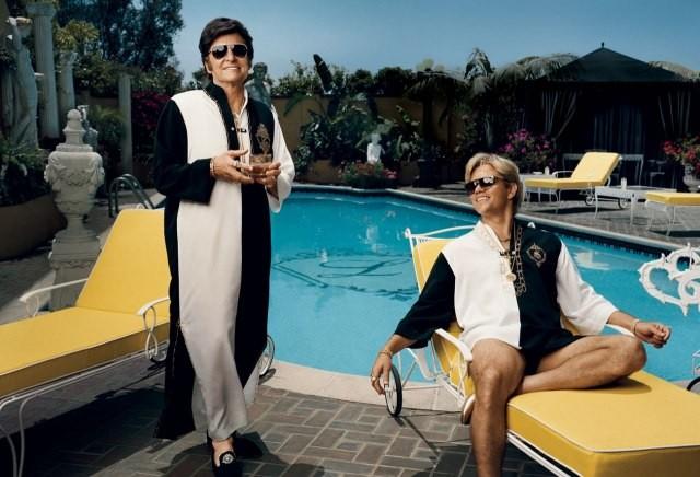 Behind the Candelabra: Matt Damon e Michael Douglas in una foto promozionale del film