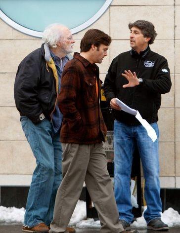 Nebraska: Bruce Dern e Will Forte sul set del film insieme al regista Alexander Payne