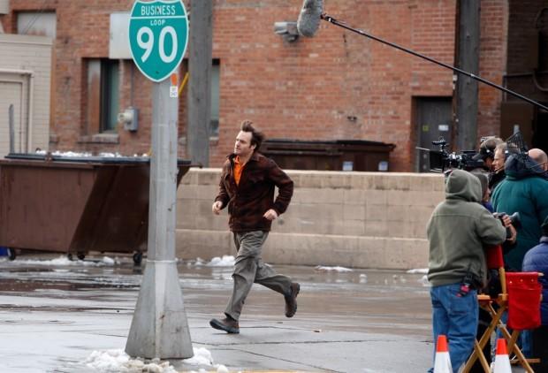 Nebraska: Will Forte sul set del film