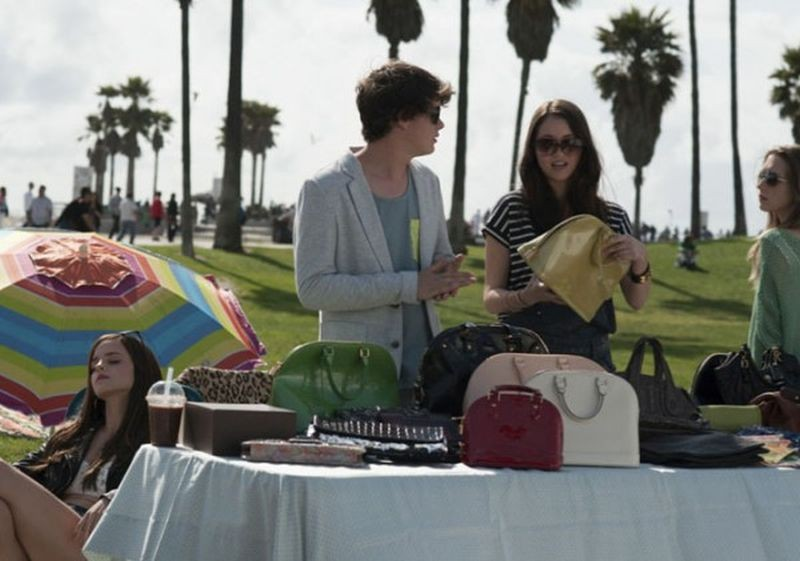 The Bling Ring: Israel Broussard e Katie Chang in una scena del film