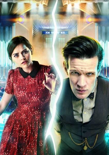 Doctor Who: Matt Smith e Jenna-Louise Coleman in una foto promozionale dell'episodio Journey to the Centre of the TARDIS