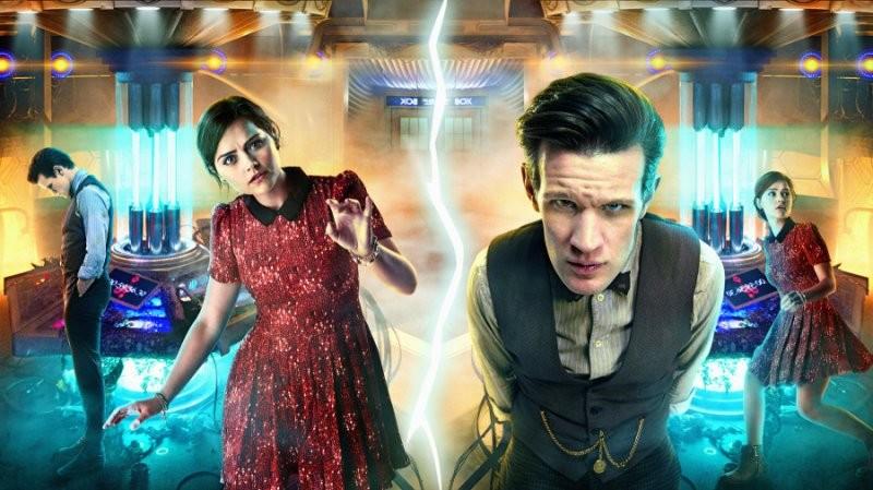Doctor Who: Matt Smith e Jenna-Louise Coleman in una immagine promozionale dell'episodio Journey to the Centre of the TARDIS