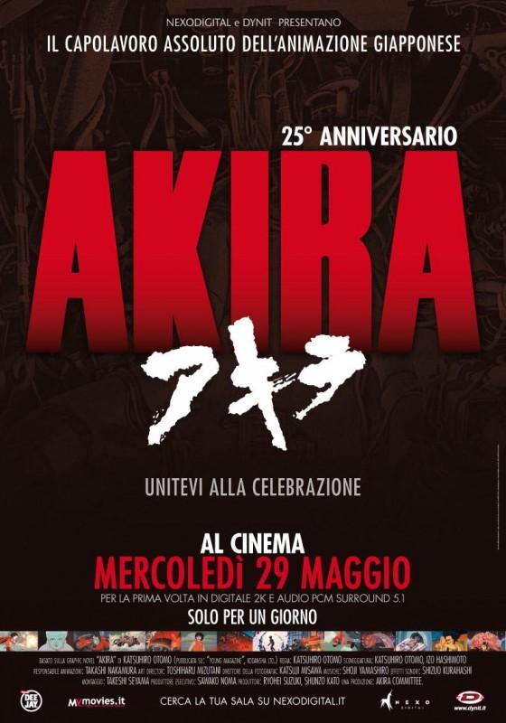 Akira: la locandina italiana della riedizione digitale del film per il 25° anniversario