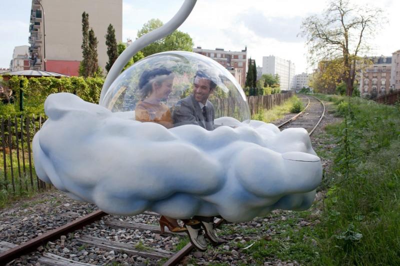 Audrey Tautou con Romain Duris in Mood Indigo - La schiuma dei giorni