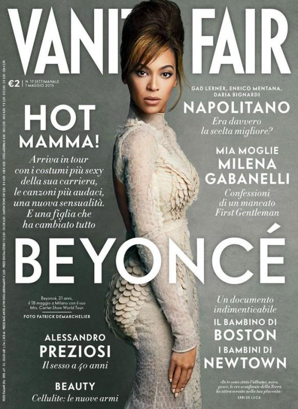 Beyoncé sulla cover di Vanity Fair Italia (aprile 2013)
