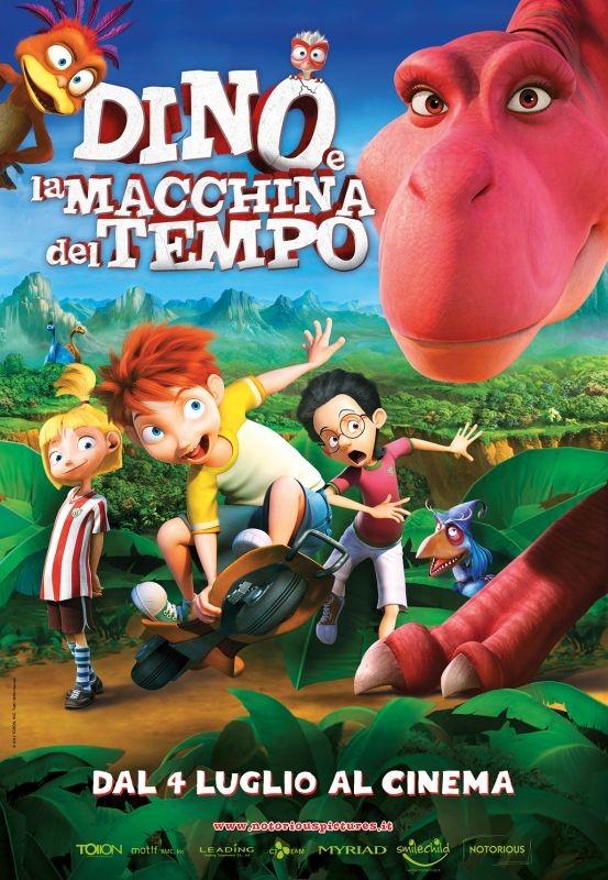 Dino e la macchina del tempo: la locandina italiana del film