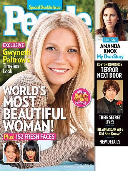 Gwyneth Paltrow sulla cover di People dedicata alla più bella del mondo! (2013)