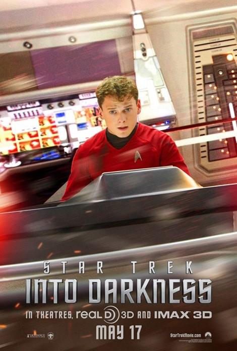 Star Trek Into Darkness: character poster per Anton Yelchin