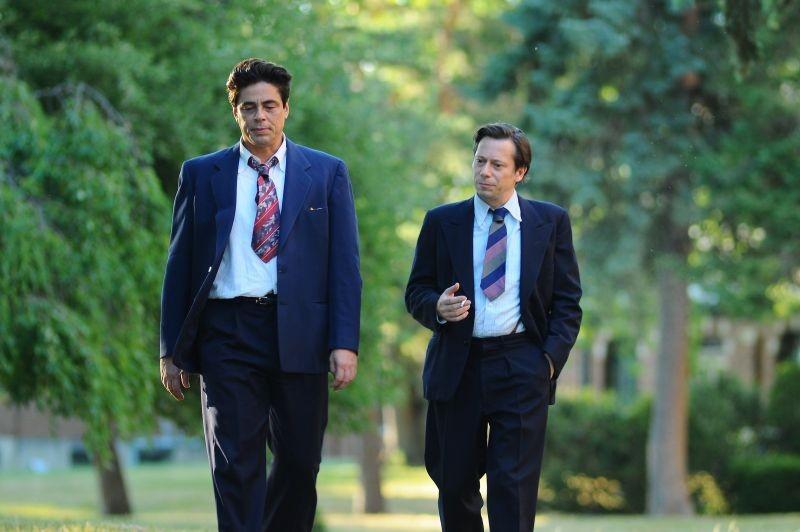 Jimmy P. (Psychotherapy of a Plains Indian): Benicio Del Toro con Mathieu Amalric in una scena del film