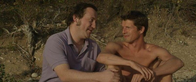 L'inconnu du lac: Pierre de Ladonchamps e Mathieu Vervisch in una scena del film