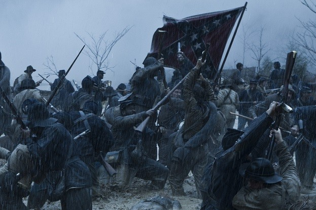 Una scena di battaglia