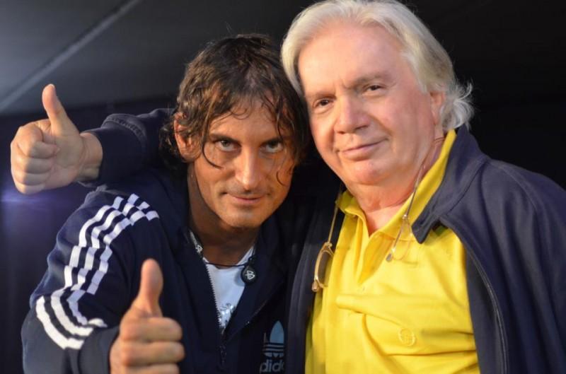 Claudio Del Falco con il regista e coreografo Gino Landi