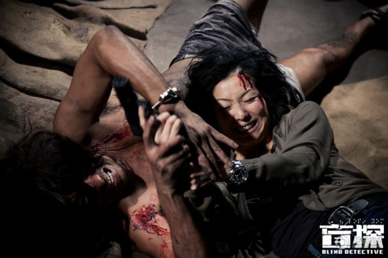 Blind Detective: Sammi Cheng in una scena d'azione del film