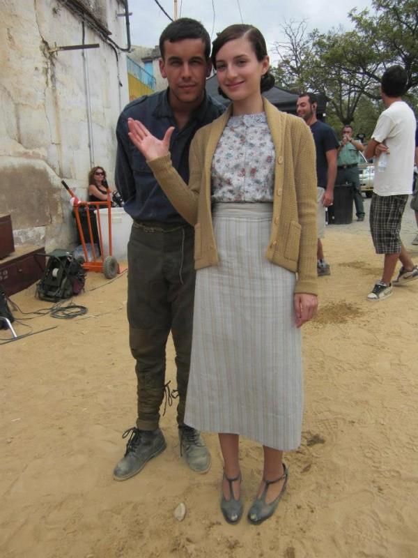 Mario Casas sul set de La Mula con Maria Valverde