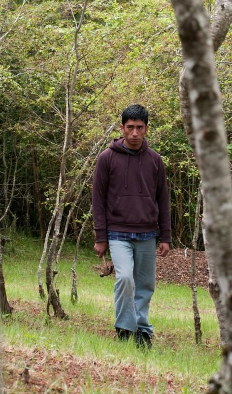 L'Eté des poissons volants: Roberto Cayuqueo minaccioso in una scena del film