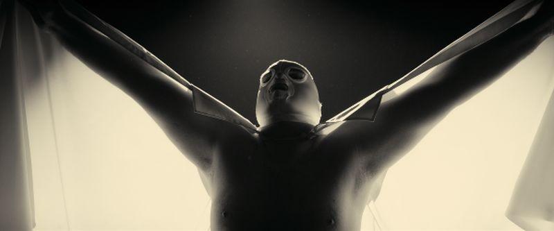 Nos héros sont morts ce soir: l'angelo bianco del catch, Denis Ménochet, in una scena del film