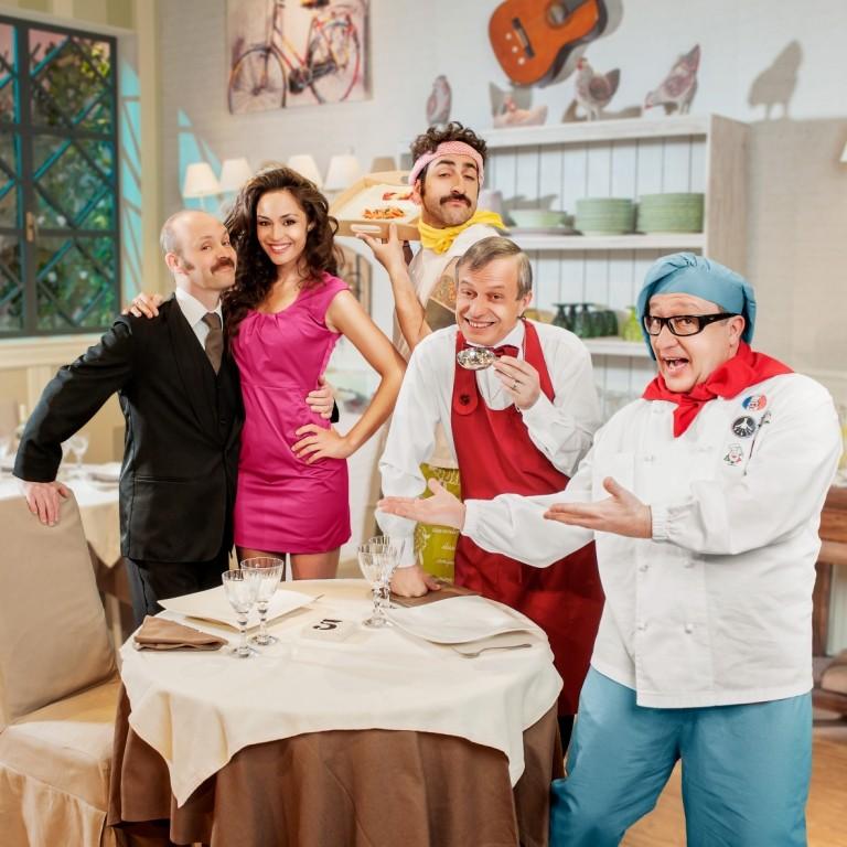 La cena dei cretini: una foto promozionale del cast