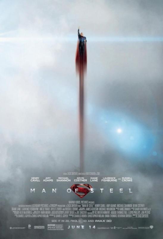 L'uomo d'acciaio: la nuova suggestiva locandina con Superman
