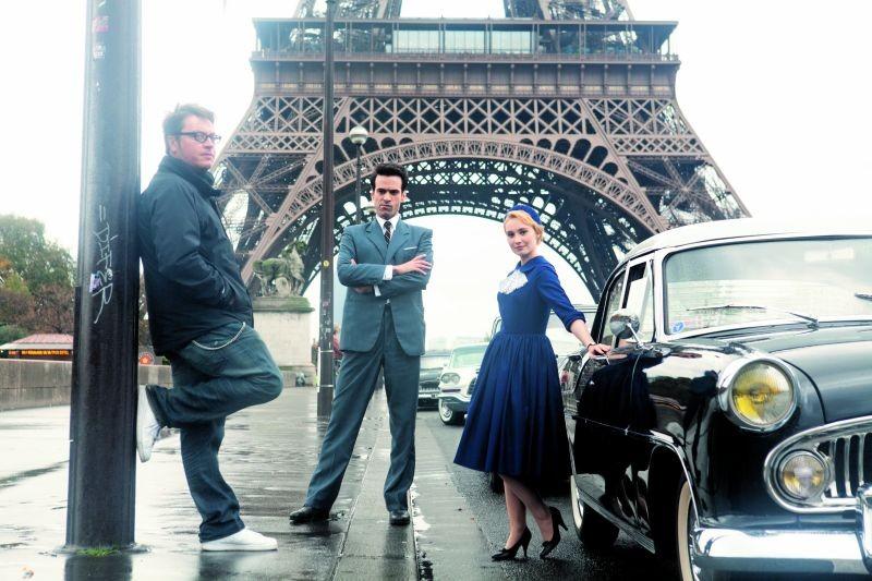 Tutti pazzi per Rose: i protagonisti Romain Duris e Déborah François sul set insieme al regista Régis Roinsard