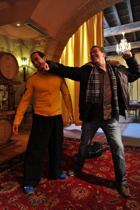 Una vita da sogno: il regista Domenico Costanzo sul set con Tim Man