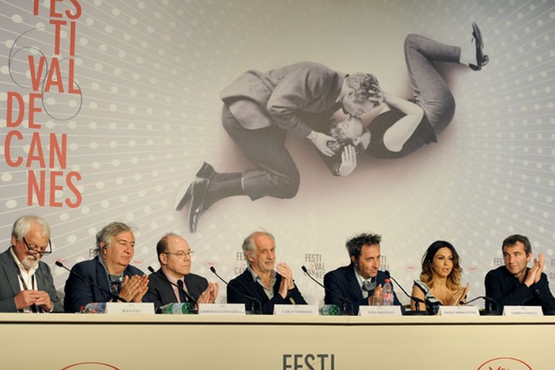 La grande bellezza: il cast del film durante la conferenza stampa di Cannes 2013