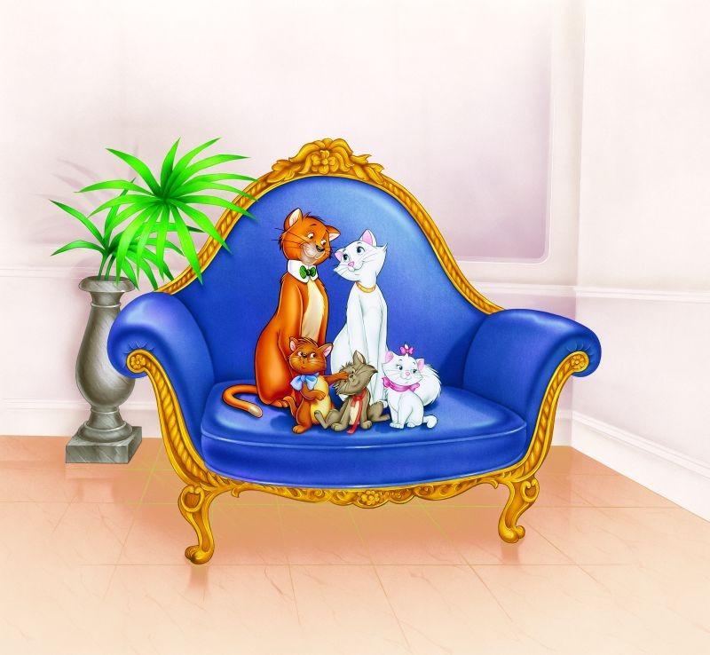 Gli Aristogatti Una Colorata Immagine Del Cartone Animato Disney