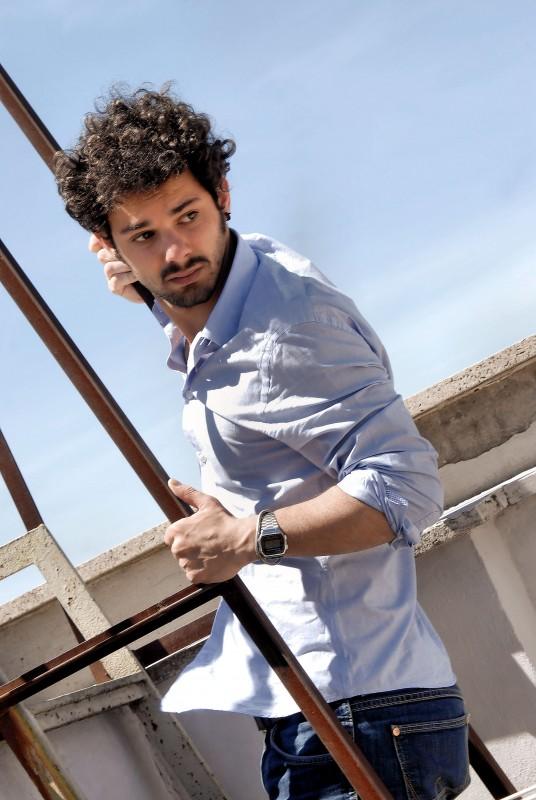 L'attore Giuseppe Cristiano in una bella foto di Mattia Passeri