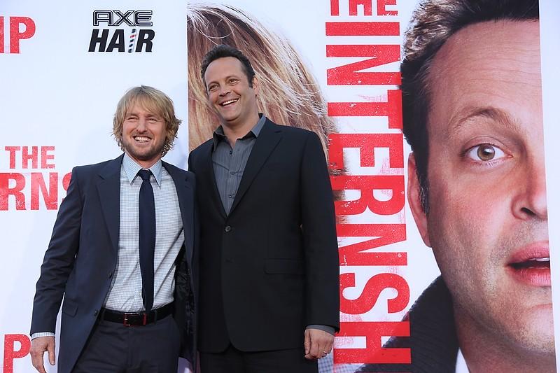 Gli stagisti: Owen Wilson e Vince Vaughn sul red carpet della premiere del film a Westwood