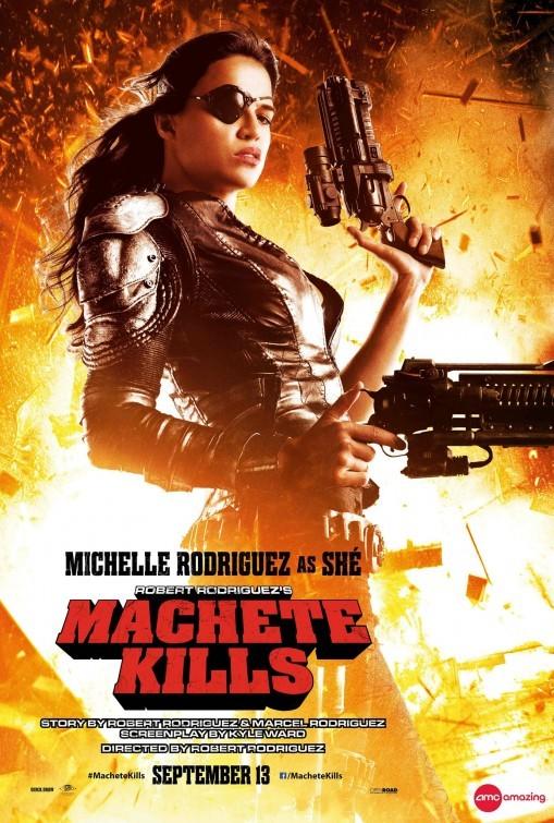 Machete Kills: ecco il character poster di Michelle Rodriguez