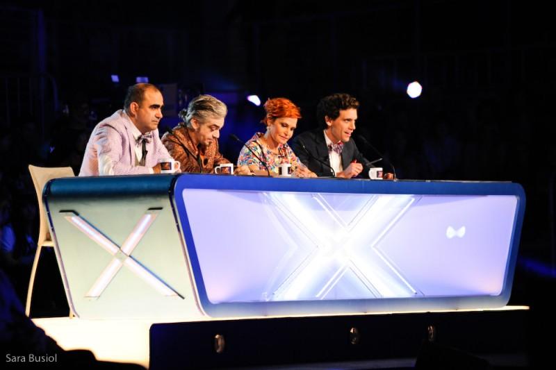 X Factor 7: Mika, Elio, Morgan e Simona Ventura ai casting di genova
