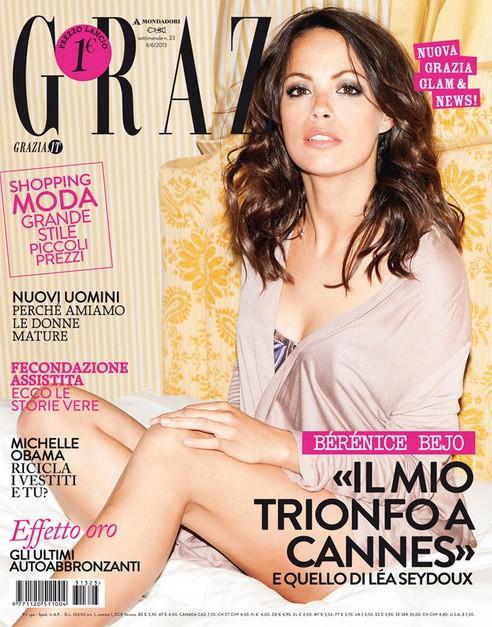 Berenice Bejo sulla cover di Grazia - giugno 2013