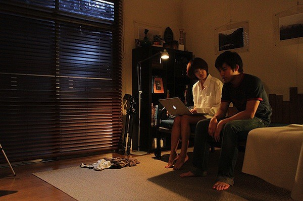 I due protagonisti di Kankin Tantei, pellicola giapponese del 2013 tratta da un manga