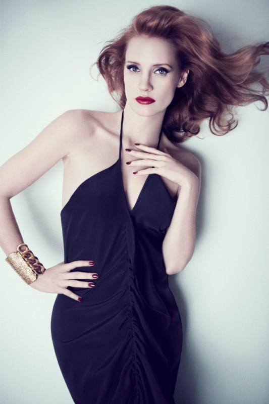 Un ritratto glamour di Jessica Chastain