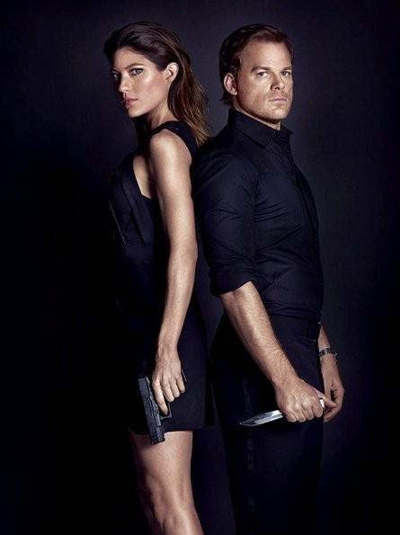 Dexter: Michael C. Hall e Jennifer Carpenter in una foto promozionale della stagione 8