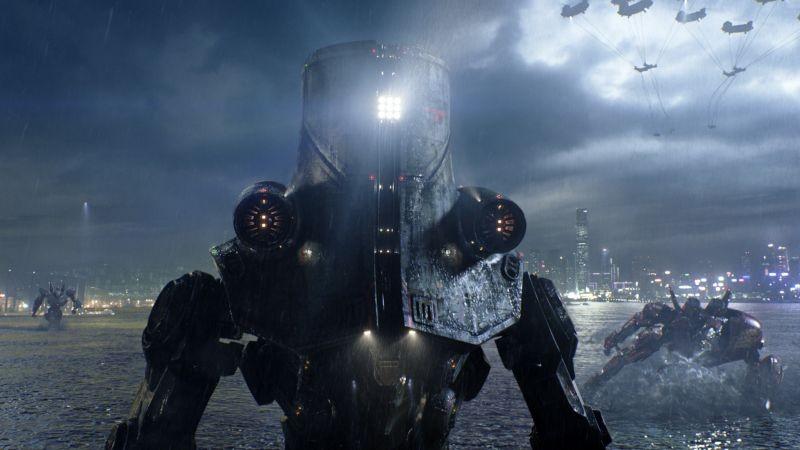 Pacific Rim: i robot si preparano per il contrattacco agli alieni in una scena del film