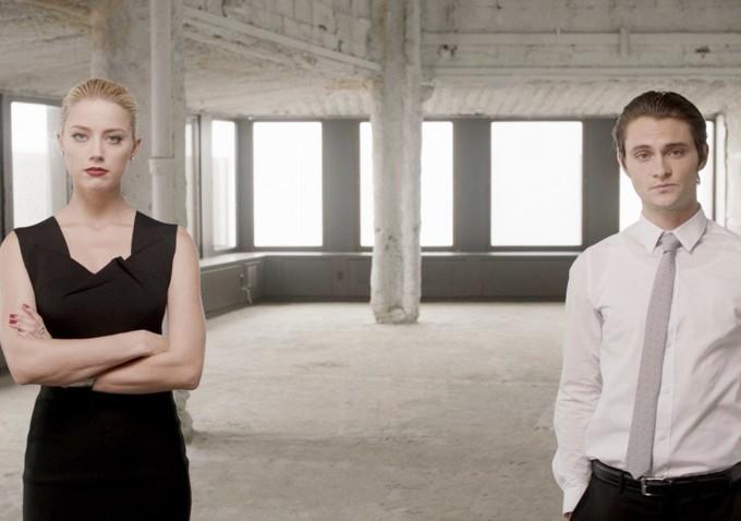 Shiloh Fernandez e Amber Heard in una scena di Syrup, del 2013