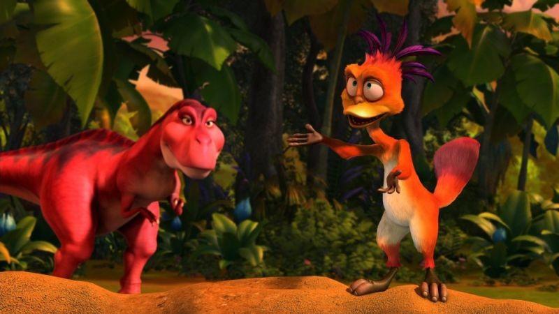 Dino e la macchina del tempo: un'immagine tratta dal film sui dinosauri