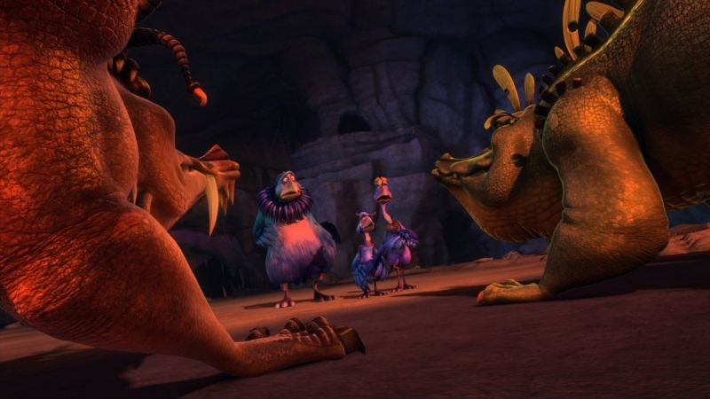 Dino e la macchina del tempo: una scena del film animato