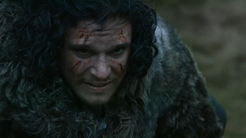 Il trono di spade: Kit Harington in una scena dell'episodio Mhysa