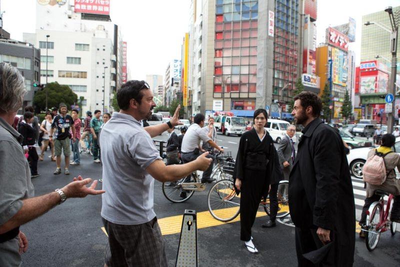 Wolverine: l'immortale, James Mangold con Hugh Jackman sul set del film