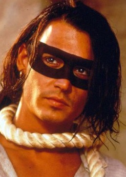 Johnny Depp in Don Juan De Marco, maestro d'amore.