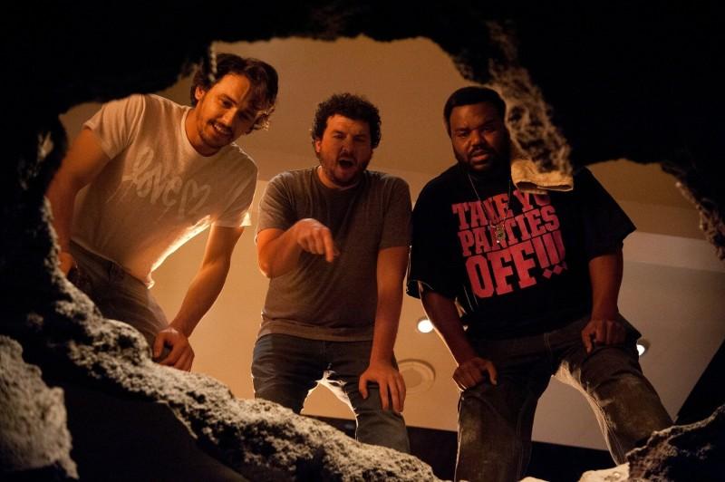 Facciamola finita: James Franco, Danny McBride e Craig Robinson in una scena