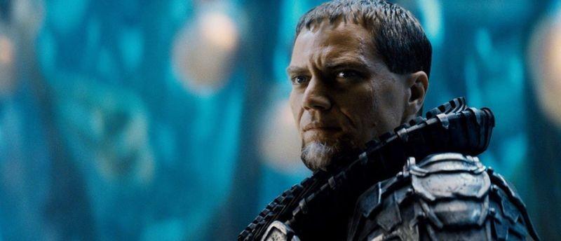 Michael Shannon nei panni del Generale Zod in una scena de L'uomo d'acciaio