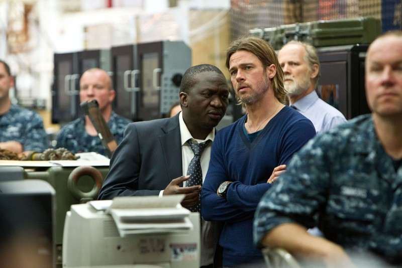 World War Z: Brad Pitt accanto a Fana Mokoena
