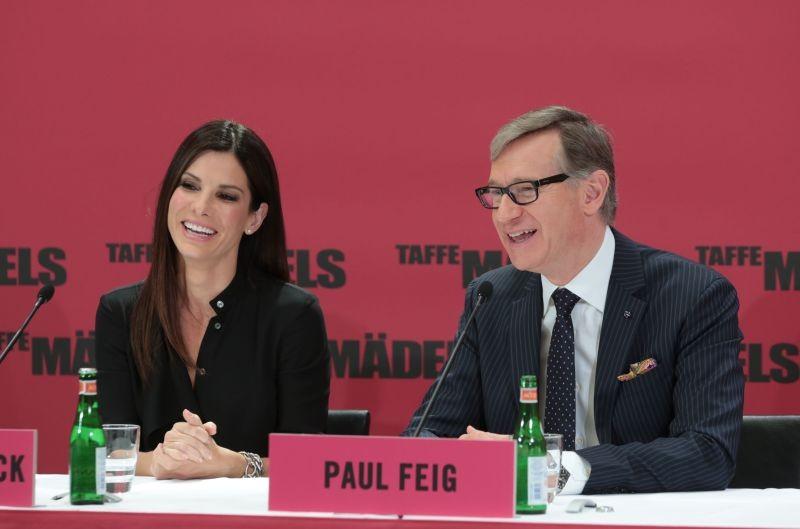 Corpi da reato: Sandra Bullock e Paul Feig durante la conferenza stampa della premiere berlinese del film