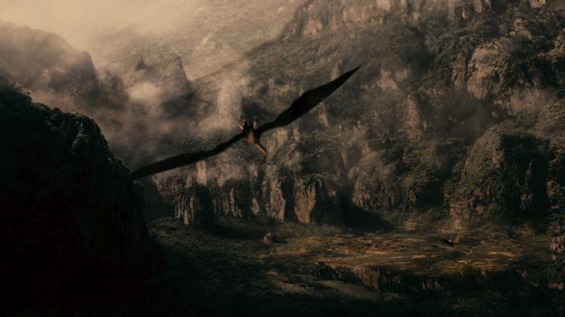 The Lost Dinosaurs: una scena tratta dall'avventuroso film sui dinosauri diretto da Sid Bennett