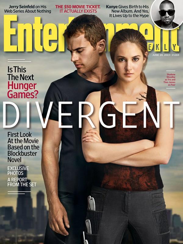 Divergent: Shailene Woodley e Theo James sulla copertina di Entertainment Weekly