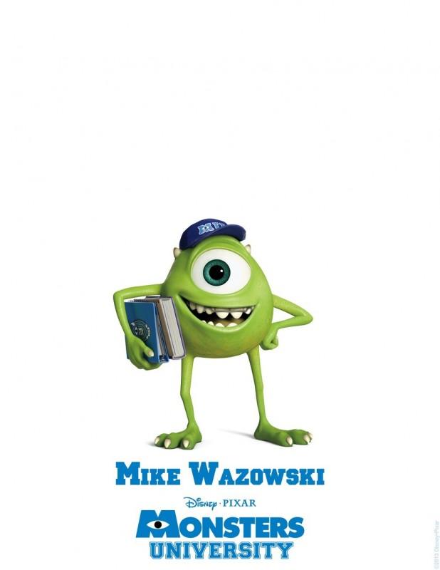 Monsters University - character poster di Mike Wazowski