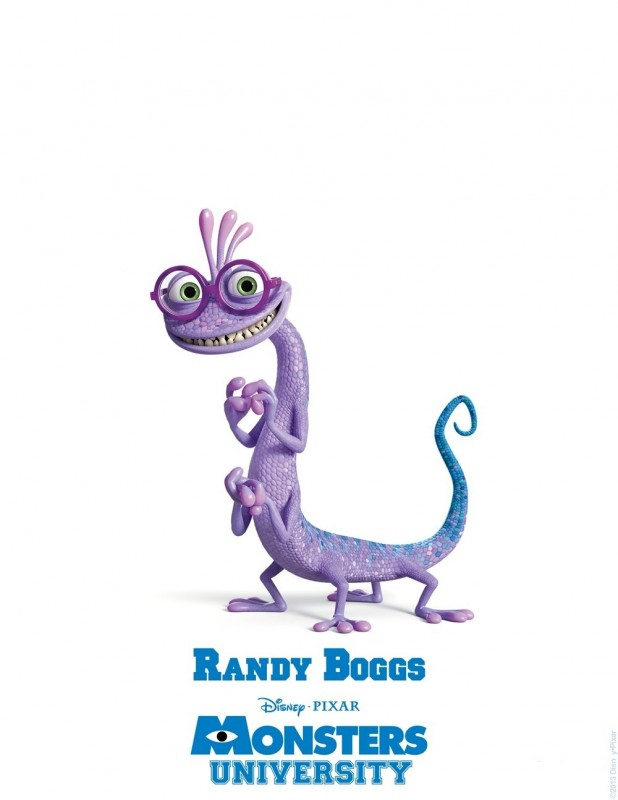 Monsters University - character poster di Randy Boggs