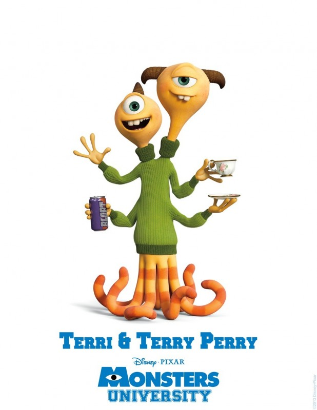 Monsters University - character poster di Terri e Terry Perry